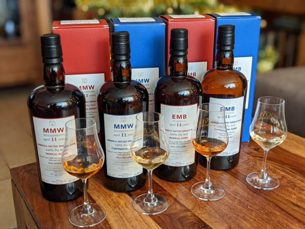 Monymusk Velier & Scheer 11y MMW and 14y EMB: Tropical vs Continental Ageing